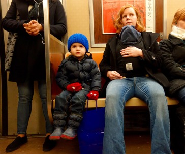 Quin took his first ever subway ride, starting at Chambers St. on the Uptown A express…