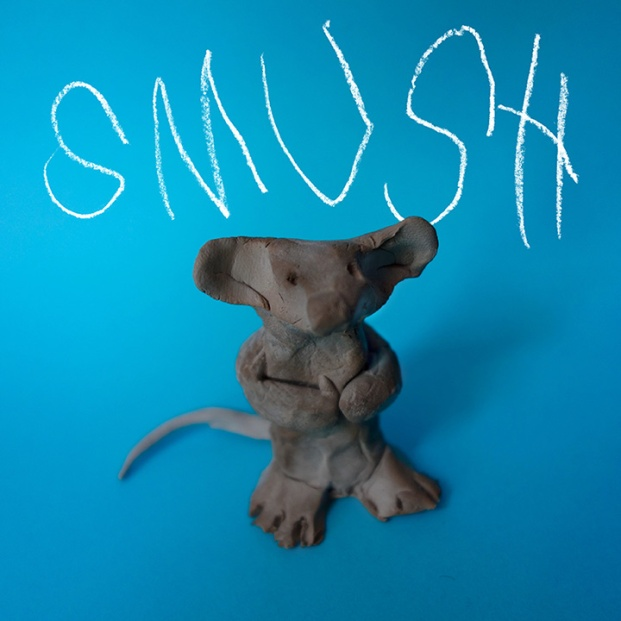 This isn't actually Smush, Henry's imaginary friend, it's just a statue we made out of clay in his honor.