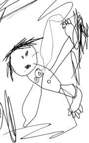 Henry's sketch of a Rousseau figure
