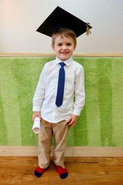 Ready for kindergarten.