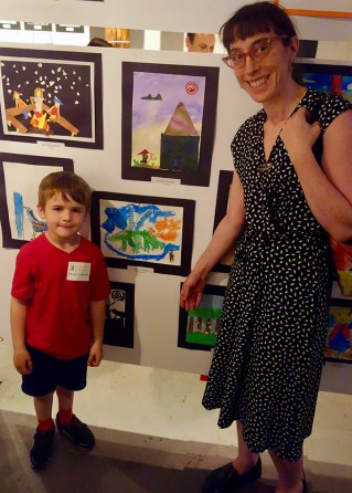 Henry and his art teacher, Madeline.