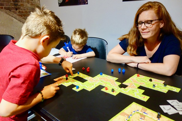 Carcassonne at Game Lab