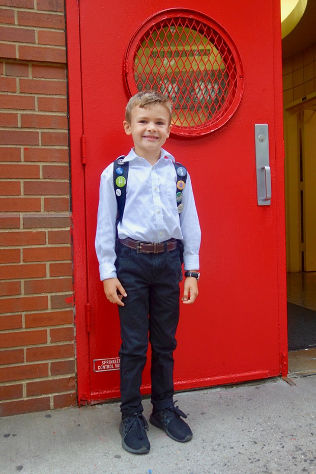 First day of 2nd grade for the birthday boy, Henry.