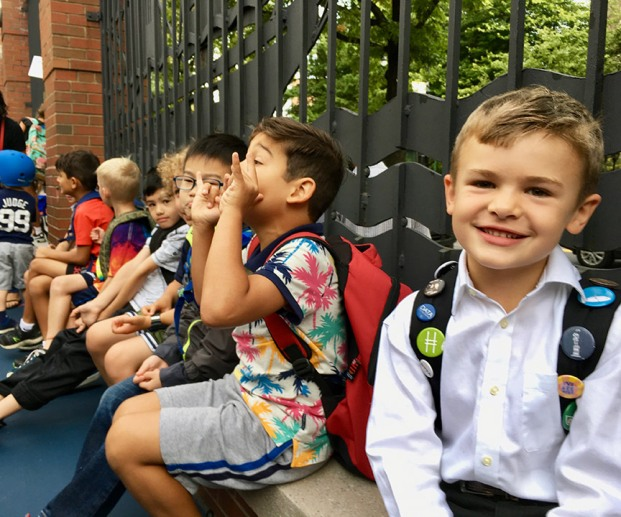 Second-grader line-up at PS 234